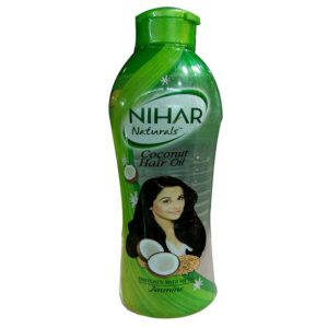 Nihar Naturals Non Sticky,Coconut Hair Oil For Thick & Strong Hair, Jasmine, 400 ml
